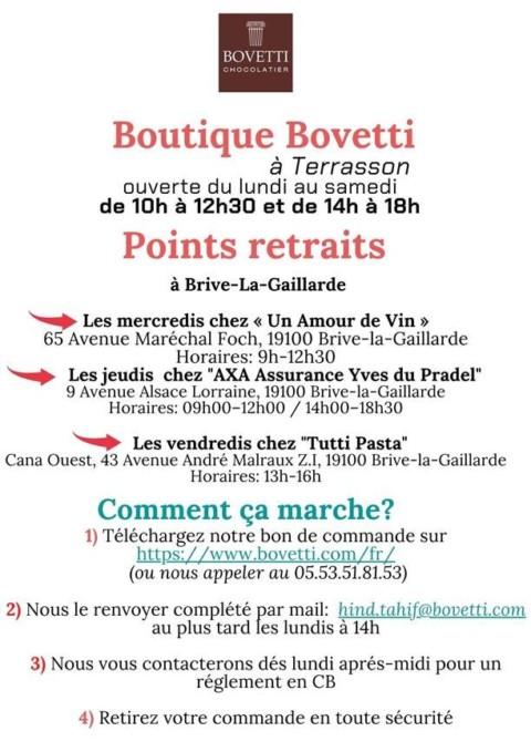 Bovetti reste ouvert !